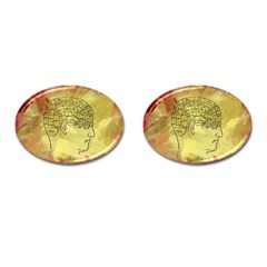 Brain Map Cufflinks (Oval)