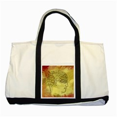 Brain Map Two Toned Tote Bag