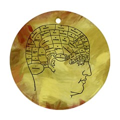 Brain Map Round Ornament (Two Sides)