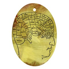 Brain Map Oval Ornament (two Sides)