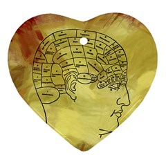 Brain Map Heart Ornament (two Sides)