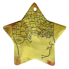 Brain Map Star Ornament (Two Sides)