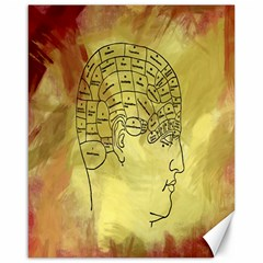 Brain Map Canvas 16  x 20  (Unframed)