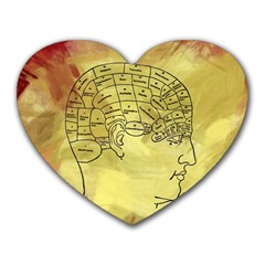 Brain Map Mouse Pad (Heart)