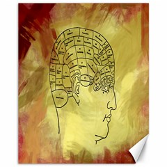 Brain Map Canvas 11  X 14  (unframed)