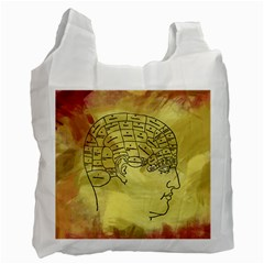 Brain Map White Reusable Bag (Two Sides)