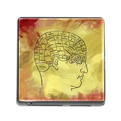 Brain Map Memory Card Reader With Storage (square)