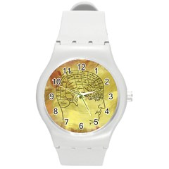 Brain Map Plastic Sport Watch (medium)