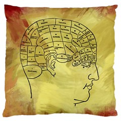 Brain Map Large Cushion Case (Two Sided)