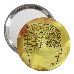 Brain Map 3  Handbag Mirror