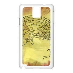 Brain Map Samsung Galaxy Note 3 N9005 Case (White)