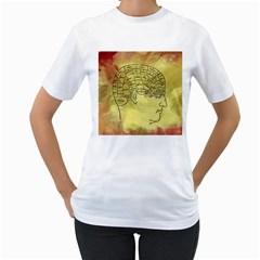 Brain Map Women s T-Shirt (White)