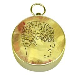 Brain Map Gold Compass