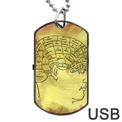 Brain Map Dog Tag USB Flash (Two Sides)