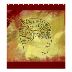 Brain Map Shower Curtain 66  x 72  (Large)