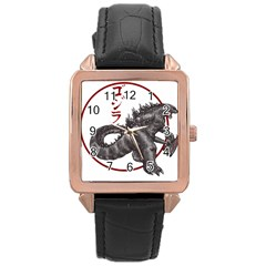 Gojired1 Rose Gold Leather Watch