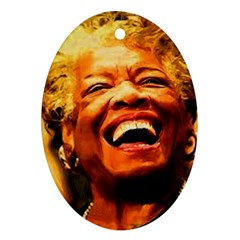Angelou Oval Ornament (Two Sides)
