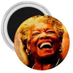 Angelou 3  Button Magnet