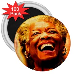 Angelou 3  Button Magnet (100 pack)