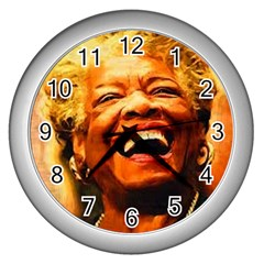 Angelou Wall Clock (Silver)