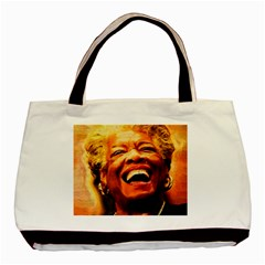 Angelou Twin-sided Black Tote Bag