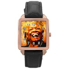 Angelou Rose Gold Leather Watch