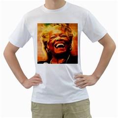 Angelou Men s T-Shirt (White)