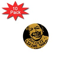 Maya Angelou 1  Mini Button Magnet (10 pack)
