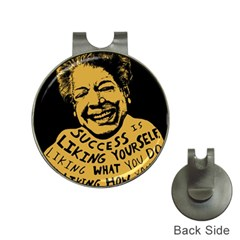 Maya Angelou Hat Clip with Golf Ball Marker