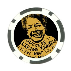 Maya Angelou Poker Chip