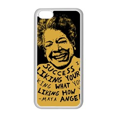 Maya Angelou Apple iPhone 5C Seamless Case (White)