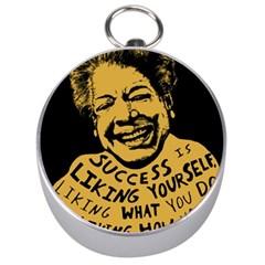 Maya Angelou Silver Compass