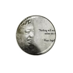 Maya Angelou Golf Ball Marker 4 Pack (for Hat Clip)