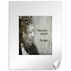 Maya Angelou Canvas 12  x 16  (Unframed)