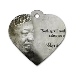 Maya Angelou Dog Tag Heart (One Sided)