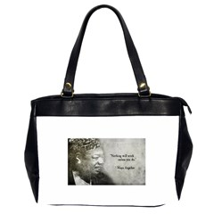 Maya Angelou Oversize Office Handbag (Two Sides)