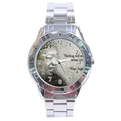 Maya Angelou Stainless Steel Watch