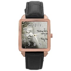 Maya Angelou Rose Gold Leather Watch