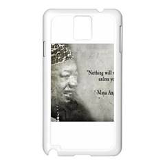 Maya Angelou Samsung Galaxy Note 3 N9005 Case (White)