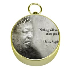 Maya Angelou Gold Compass