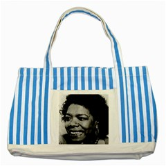 Maya3 Blue Striped Tote Bag