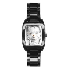 Maya  Stainless Steel Barrel Watch