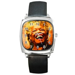 Angelou Square Leather Watch
