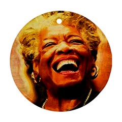 Angelou Round Ornament (Two Sides)