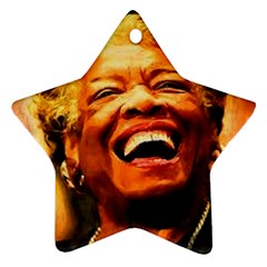 Angelou Star Ornament (Two Sides)