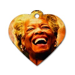 Angelou Dog Tag Heart (One Sided)