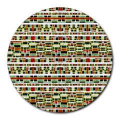 Aztec Grunge Pattern 8  Mouse Pad (round)