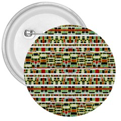 Aztec Grunge Pattern 3  Button