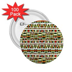Aztec Grunge Pattern 2.25  Button (100 pack)