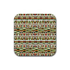 Aztec Grunge Pattern Drink Coasters 4 Pack (Square)